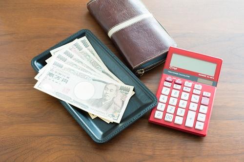 お金と財布と電卓